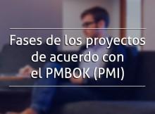 Fases de los proyectos de acuerdo con el PMBOK (PMI)