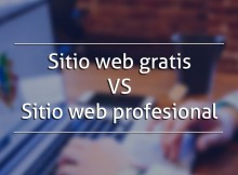 sitio web gratis VS sitio web profecional